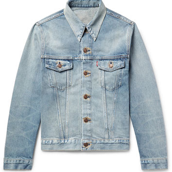 Levi's Vintage Clothing - 1967 Type III Slim-Fit Contrast-Stitched Distressed Denim Jacket