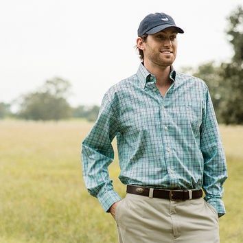 Sutton Plaid - Wrinkle Free - Collegiate - University of North Carolina Wilmington