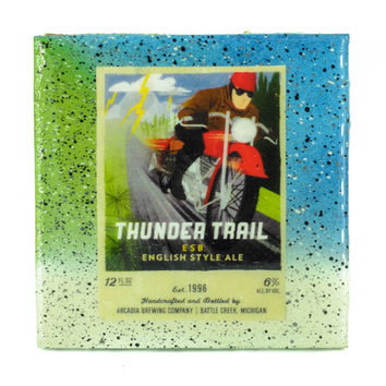 Arcadia Brewing - Thunder Trail - Handmade Recycled Tile Coaster