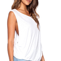 Velvet by Graham & Spencer Luxe Slub Sanaa Tank in White