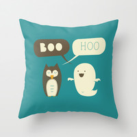 Boo Hoo Throw Pillow by AGRIMONY // Aaron Thong | Society6