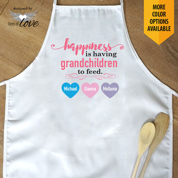 Apron for Grandmother | Mother's Day Gift | Kitchen Apron | Cooking Apron | Baking Apron | Adult Apron | Personalized Apron | Chef's Apron