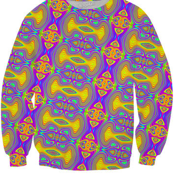 Psychedelic gold tile sweater
