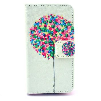 Balloon Print Leather Case Cover Wallet-170928