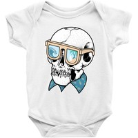 skull holiday Baby Onesuit