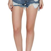 Summer Festival High Waist Cut Off Denim Shorts