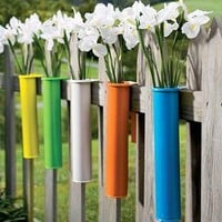 Metal Flower Tubes - Plow & Hearth