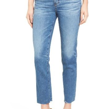 AG The Isabelle Crop Straight Leg Jeans (14 Years Daring) | Nordstrom