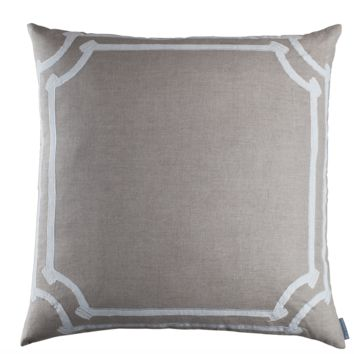 Angie Natural Linen European Pillow by Lili Alessandra