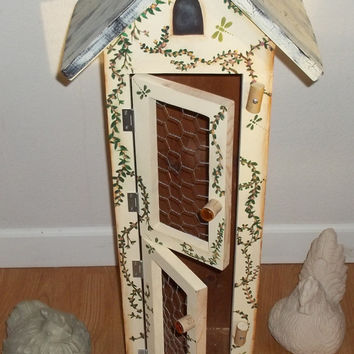 Hand Painted / Hand Crafted/Decorative Birdhouse/Chicken Coop/CountryDecor/Gift for MOM/