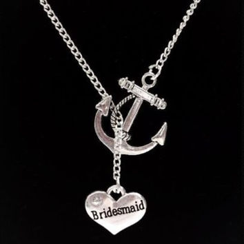 Bridesmaid Gift My Anchor Of Hope Bridal Party Wedding Gift Necklace