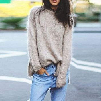 Loose knitted Sweater B0015599