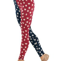 Americana Star Print Leggings - See You Monday