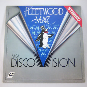 Collectible Fleetwood Mac Disco Vision Laser Disc Video - Vintage 1980s