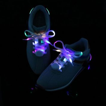 LED Shoelaces Light Up Shoe Laces with 3 Modes in 5 Colors Flash Lighting the Night fo