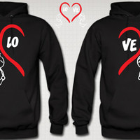 Couple Love Hoodie Love Hoodies For Her For Him Love Valentine s Day Special Hoodies
