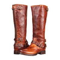 Frye Veronica Back Zip Cognac Antique Pull Up - Zappos.com Free Shipping BOTH Ways