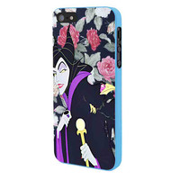 Malficient Disney Floral iPhone 5 Case Framed Blue