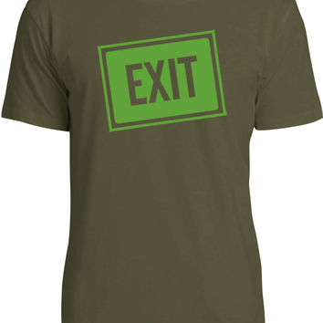 Exit Sign (Green) Mens Fine Jersey T-Shirt