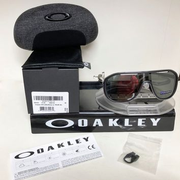 New Oakley OUTPACE SUNGLASSES SOFT TOUCH BLACK / PRIZM BLACK OO4133-0226
