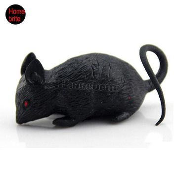 LMFONHS Halloween Props Mouse Novelty Toys Tricky Toys Terror Simulation Mouse Animal Toys Halloween Decoration Masquerade Bar HW176