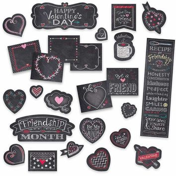 CHALK HEARTS MINI BULLETIN BOARD