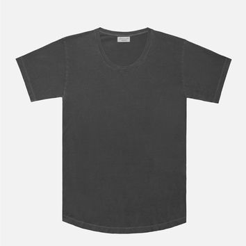 Washed Curve U-Neck / Black