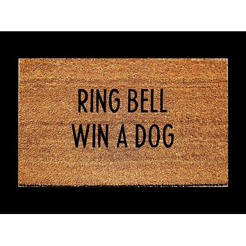 Ring Bell, Win a Dog Doormat
