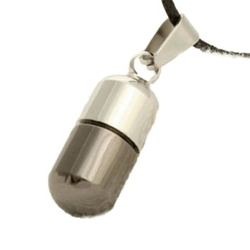 Magic Trend Accessory Stainless steel Capsule Shape Pendant Beauty Love Pill Necklace Luxury  Special Cute Best