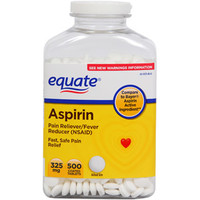Walmart: Equate Aspirin Tablets 325 Mg Pain Reliever/Fever Reducer 500 Ct