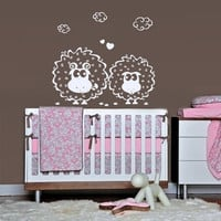 rvz1780 Wall Vinyl Sticker Nursery Kids Baby Sheeps Decal Clouds Funny
