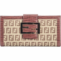 Fendi Pattina Wallet Pan Bruc Oro 8M0032 Beige
