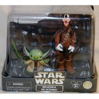 Disney Star Wars Stitch Yoda & Goofy Chewbacca