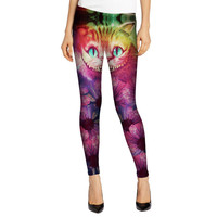 Alice in Wonderland Cheshire cat 3D  Workout Fitness Leggings A11