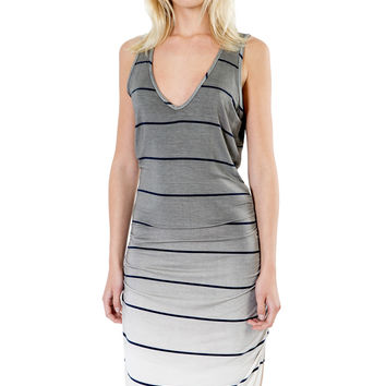 Sunset Stripe Vesper Mini Dress in Fifty Ombre Wash