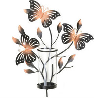 Metal Bouncy Butterfly Wall Candle Holder Sconce Wedding Home Decor Gift