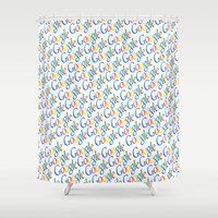 GOOGLE Shower Curtain by Acus