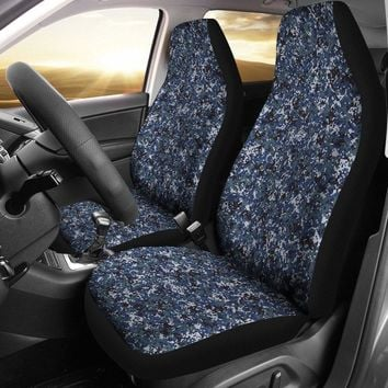 Digital Navy Camo Designed Seat Covers