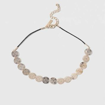 Filigree Disc Choker Necklace - Jewellery - Bags & Accessories