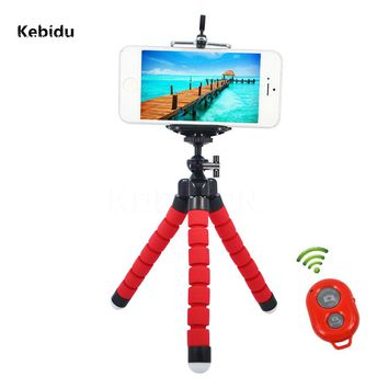 Kebidu Mini Holder Flexible Octopus Tripod Bracket Stand+Selfie Monopod Wireless Bluetooth Shutter For Smart Phone
