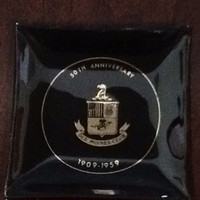 Vintage ashtray commemorating the 50th anniversary of the Des Moines Club 1909-1959