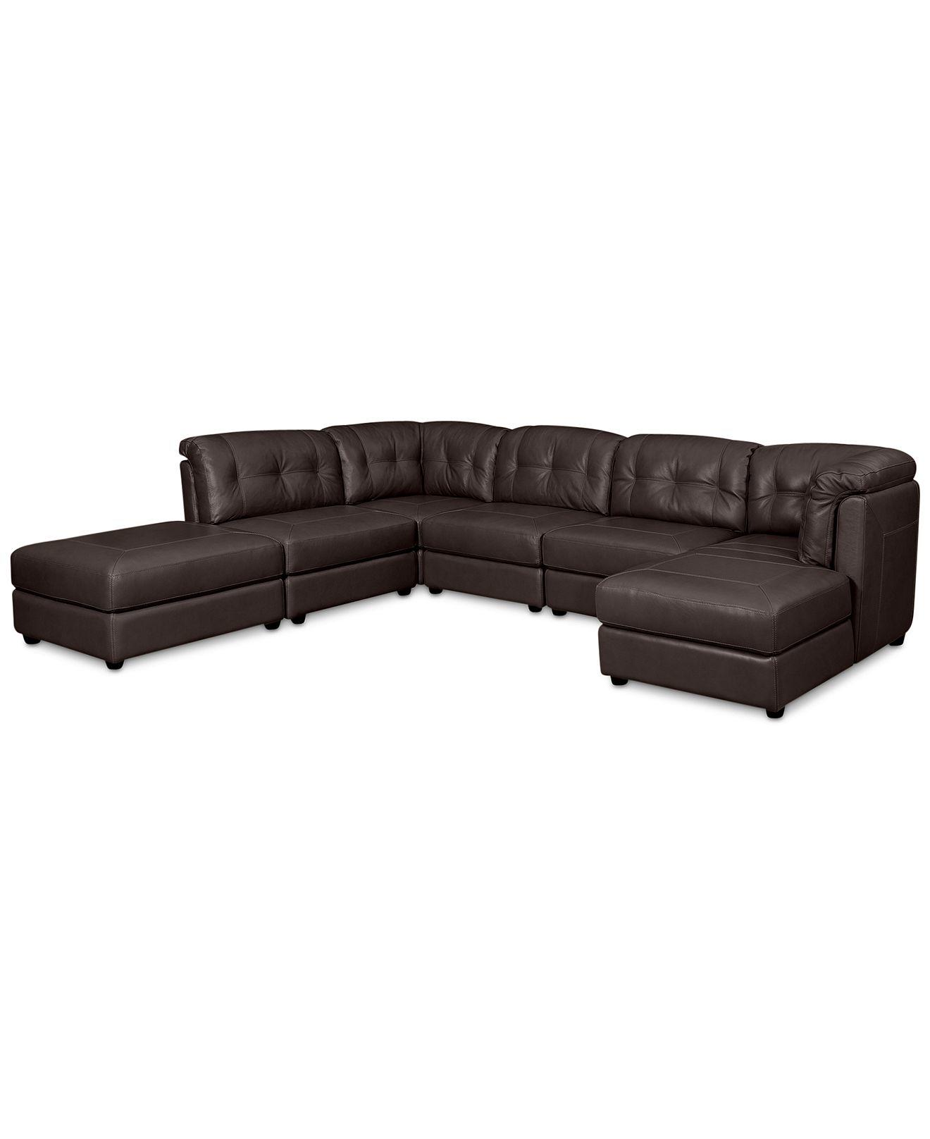 Fabian leather modular sectional sofa from macys cabin for 6 piece modular sectional sofa leather