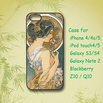 Alphonse Mucha, iPhone 5 Case, iPhone 4 Case, ipod 4 case,ipod 5 case,Samsung Galaxy S4,Samsung Galaxy S3, Samsung note 2,blackberry z10,Q10