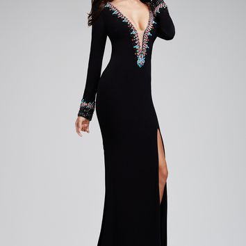 Black Jersey Beaded 31019 - Prom Dresses
