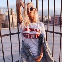 Mermaid Off Duty TShirt Part Time Mermaid Funny Shirt