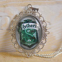 New-Victorian Retro Harry Potter Necklace with Slytherin F031