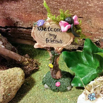 Fairy Garden Sign, Fairy Garden Accessory, Fairy Garden Miniature Sign, Terrarium Accessory, Fairy Sign, Fairy Garden Kit, Miniature Sign