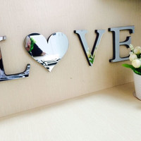 10cmx8cmx1.2cm(thick) wedding love letters Home decoration