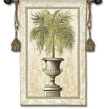 Southern Exposure Tuscan Urn Greek Roman Classical Tapestry 53H