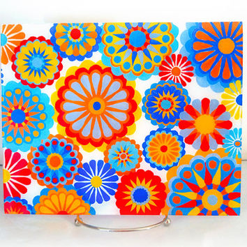 Abstract Floral Glass Panel - Glass Art - Unique Home Decor